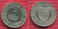 Weimarer Republik Deutsches Reich 3 Mark Silber Gedenkmünze 700 Jahre Reichsfreiheit Stadt Lübeck