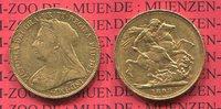 England  Great Britain UK Sovereign 1  Pfund Sovereign Goldmünze Victoria