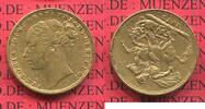 Sovereign Goldmünze 1872 England  Great Br...