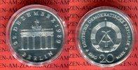 DDR 20 Mark Silbergedenkmünze Gedenkmünze Öffnung des Brandenburger Tores Berlin