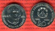 DDR 20 Mark Silbergedenkmünze Gedenkmünze 125. Todestag Ernst Moritz Arndt