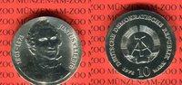 DDR 10 Mark Silbergedenkmünze Gedenkmünze 175. Geburtstag Justus von Liebig