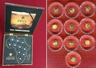 10 Minigoldmünzen á 0,5 Gramm Gold 2016 Di...