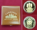 50.000 Riels Goldmünze 1974 Kambodscha Cam...