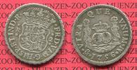 2 reales Silbermünze Wappen m. Säulen 1756 Mexico, Mexiko unter Spanien... 150,00 EUR  +  8,50 EUR shipping