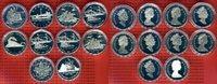 Kanada 10 * 1 Kanadischer Dollar Lot von 10 Kanadischen 1 Dollarmünzen, verschiedene Motive Royal Canadian Mint