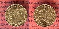10 Francs Goldmünze 1899 Frankreich Ceres ...