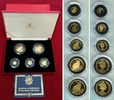 1/25, 1/10, 1/5, 1/2 und 1 Crown Goldmün 1...