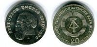 20 Mark Silbergedenkmünze 1970 DDR Gedenkmünze 150. Geburtstag Friedric... 52,00 EUR  Excl. 8,50 EUR Verzending