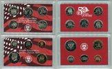USA 2,91 Dollar (5x0,25 /1/0,5/0,1/0,05/0,01 United States Mint Silver Proof Set 2002