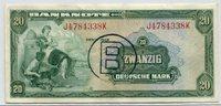 Bundesrepublik Deutschland berlin 20 DM  Banknote Deutsche Mark  Kopfgeld B-Stempel für Berlin