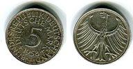 Bundesrepublik Deutschland 5 DM Silbermünze Kursmünze Silberadler Seltener Jahrgang Key Date !