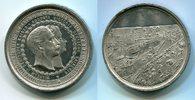 Berlin Preußen Medaille Gewerbeausstellung Berlin Wilhelm II. Victoria  Stadtansicht mit Schiffsmotiven