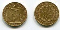 Frankreich, France 20 Francs Goldmünze 3. Republik Stehender Genius