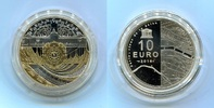 Frankreich, France 10 Euro Gedenkmünze Silber Unesco Rives de Seine, Musée Orsay Petit Palais, teilvergoldet