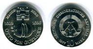 DDR 10 Mark Silbergedenkmünze Gedenkmünze 375. Geburtstag von Otto von Guericke