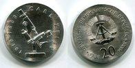 DDR 20 Mark Silbergedenkmünze Gedenkmünze 100. Todestag Carl Zeiss
