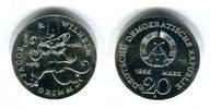 DDR 20 Mark Silbergedenkmünze Gedenkmünze zum 200. Geburtstag der Gebrüder Grimm