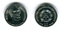 DDR 10 Mark Silbergedenkmünze Gedenkmünze 175. Geburtstag Justus v. Liebig