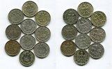 10 x 1 Mark Silbermünze 1925 - 1926 A Weim...