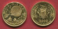 Guinea 2000 Francs 1969 PP lose Mondlandung Gold