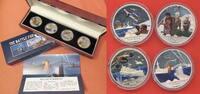 Niue 1 Dollar X 4 2012 Battle for Australia 1942 PP in Kapsel mit Zertifikat, Box