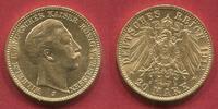 Germany Deutschland Preußen Prussia 20 Mark 1912 J Wilhelm II. in Hamburg geprägt vz-prfr