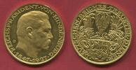 Weimarer Republik Bayern Goldmedaille Goetz Medaille, 1927 D 80. Geburtstag von Reichspräsident Hind