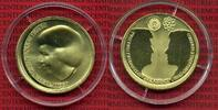 Niederlande, Holland, Netherlands 10 Euro Silbermünze, vergoldet Niederlande 10 Euro 2002 Hochzeit des Kronprinzen mit Maxima 17,8 g 925 Ag 33 mm