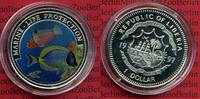 Liberia 1 Dollar Farbmünze Liberia 1 $ 1997 Farbmünze Marine Life Protection Doktorfische