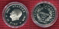 Türkei 2.500.000 Lira Silbermünze Türkei 2.500.000 Lira 1998 Silber, Atatürk, 1881-1938, Euro, Selten !
