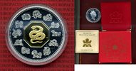 15 Dollars Silber mit Teilvergoldung 2001 ...