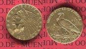 USA 2 1/2 Dollars Indian Head Goldmünze USA 2 1/2 Dollars 1915 Gold, Indian Head, Indianer ,