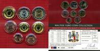 Malta Kursmünzensatz KMS 3,88 Euro Malta 2008 KMS Euro 1 Cent bis 2 Euro Zertifikat Holzbox