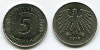 5 DM Fehlprägung 1975 G Bundesrepublik Deu...