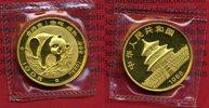 China 100 Yuan Panda, 1 Unze China 100 Yuan 1988 Gold Panda, 1 Unze Stempelglanz  Selten
