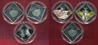 Palau 3 x 1 Dollar Schlacht von Grunwald Palau 3 x 1 $ 2010 Schlacht von Grunwald PP Farbmünzen rechteckig mit Zert.