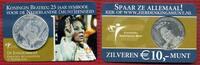 Niederlande, Holland, Netherlands 10 Euro Silbermünze Niederlande 10 Euro Silber 2005 in Coincard Königin Beatrix 25 Jahre Jubiläum