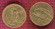 USA 20 Dollars Goldmünze Double Eagle USA 20 Dollars Double Eagle St. Gaudens , 1908  Gold,