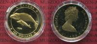 Kanada, Canada 100 Dollars Goldmünze, 1/4 Unze Kanada 100 Dollars 1988 Wal mit Kalb Whale 1/4 Unze