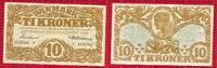 Dänemark, Denmark 10 Kronen Kroner  Banknote Dänemark 10 Kronen 1943