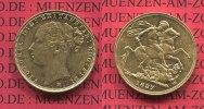 England  Great Britain UK Australien Sovereign Goldmünze für Australien England 1887 Mzz. M Melbourne  Sovereign, 1 Pfund Goldmünze Victoria St. Georg