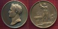 Frankreich Bro Medaille von Andrieu Taufe Frankreich Bro Medaille v. Andrieu 1811 Napoleon I. Taufe König v. Rom 145 g