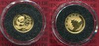 China, Volksrepublik PRC 5 Yuan Panda 1/20 Unze Gold Panda bankfrisch