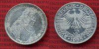 Bundesrepublik Deutschland FRG Germany 5 DM Gedenkmünze Silber 5 DM 1955 G, 300. Geburtstag Ludwig Wilhelm  Markgraf v. Baden sog. Türkenlouis