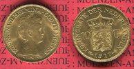 10 Gulden Goldmünze Kursmünze 1917 Niederl...