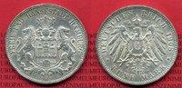 5 Mark Silbermünze 1908 Hamburg Hamburg 5 ...