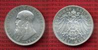 Sachsen Meiningen 3 Mark Silbermünze Sachsen Meiningen 3 Mark 1908 Kursmünze Herzog Georg