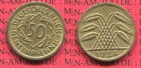 Weimarer Republik Deutsches Reich 50 Rentenpfennig Weimarer Republik 50 Rentenpfennig Kursmünze 1924 G  J. 310