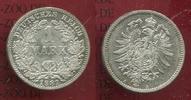 Kaiserreich 1 Mark Silbermünze 1 Mark Silber, 1881 A ;  J. 9 Bessere Erhaltung !